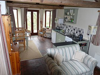 Dining Area in The Stable at High Ellington, near Masham in the Yorkshire Dales, a superior self-catering holiday cottage for two
